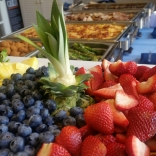 Fruits and buffet disply